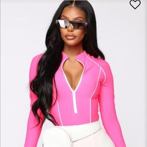 Fashion nova pink bodysuit